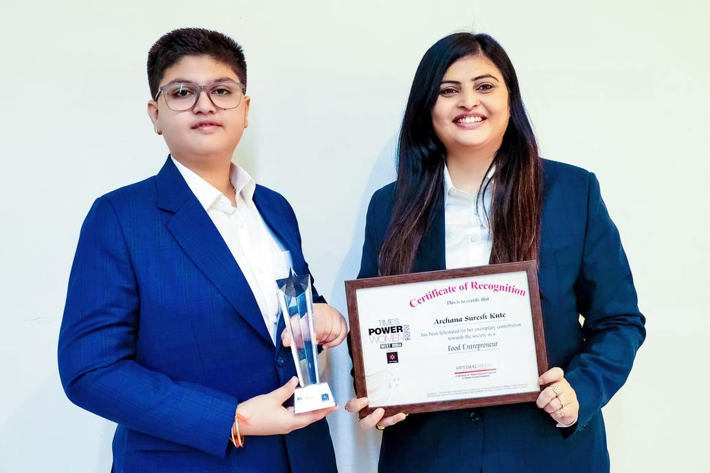 Archana Suresh Kute MD of The Kute Group awarded as Times Power Women West India 2020
