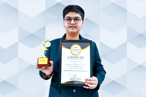 aryen kute awarded as most young entrepreneur by economics times
